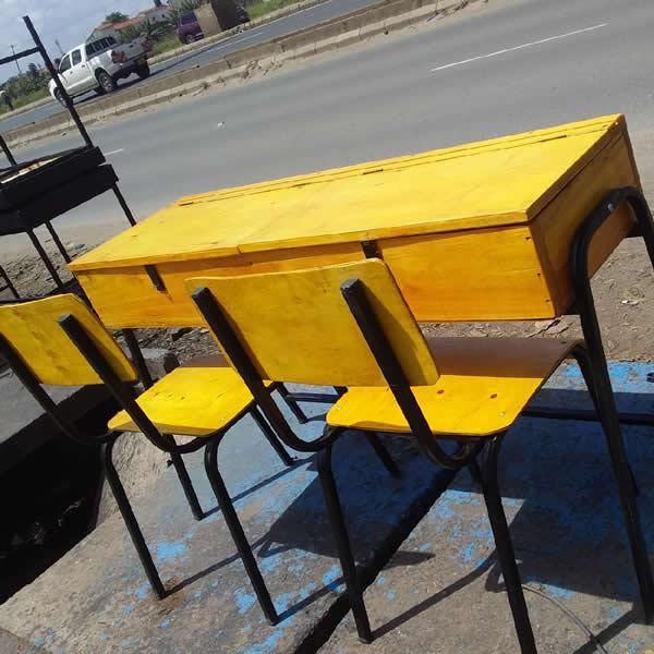 Double Student Desk & chair
